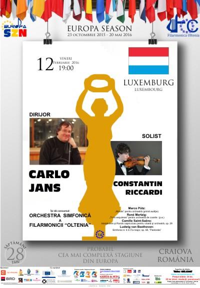 Săptămâna Luxemburg la Filarmonica Oltenia Craiova