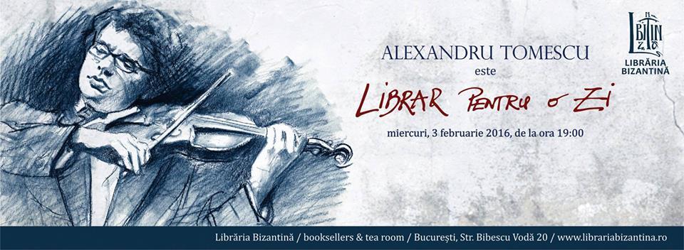 Librar pentru o zi cu Alexandru Tomescu!
