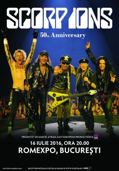 Scorpions sărbătoreşte 50 de ani de activitate la Bucureşti