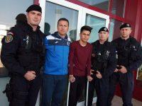 Un jandarm mehedințean a participat la meciul caritabil pentru ajutorarea unui tânăr fotbalist