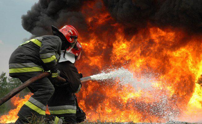 Incendiu la groapa de gunoi Halânga