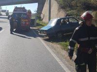ISU Mehedinți a intervenit la locul unui autoaccident produs pe raza localității Șimian DN6
