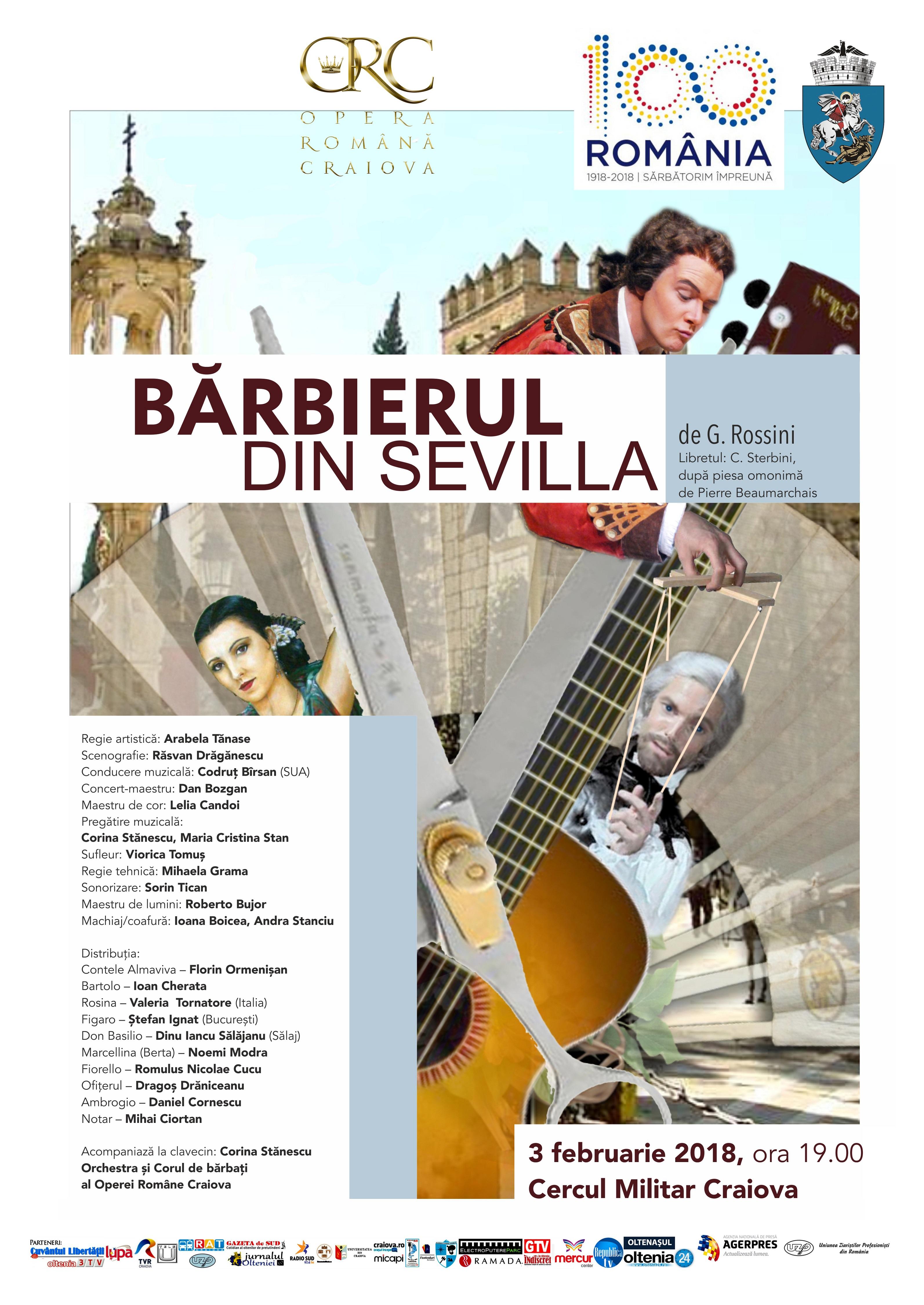 """Dinu Iancu Sălăjanu, într-un rol de operă la Craiova  Celebrul interpret de folclor face parte din distribuția spectacolului Operei Române Craiova """"Bărbierul din Sevilla""""."""