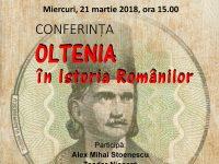 """,,Oltenia în Istoria Românilor"""""""