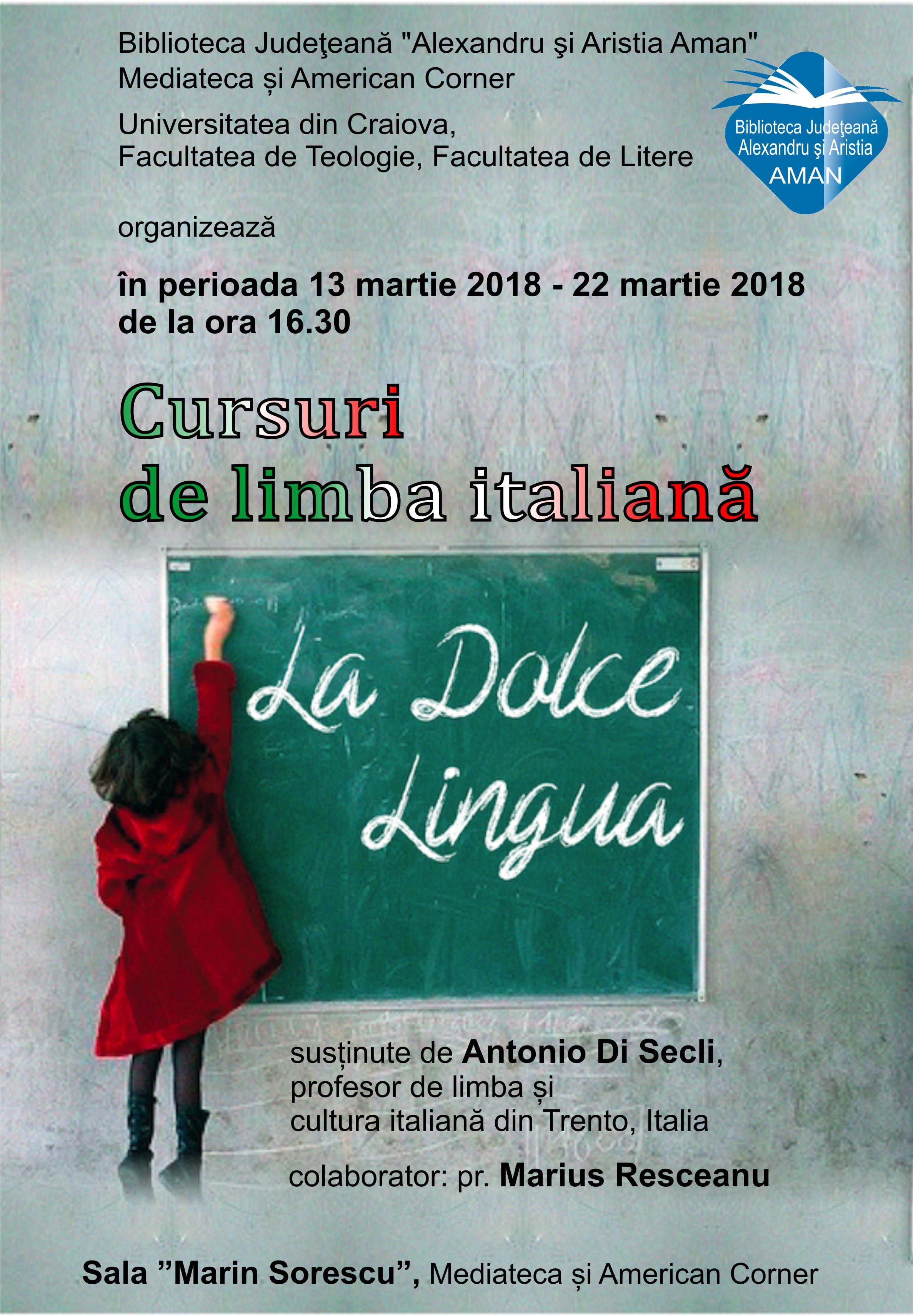 Cursuri gratuite de limba italiană, Craiova