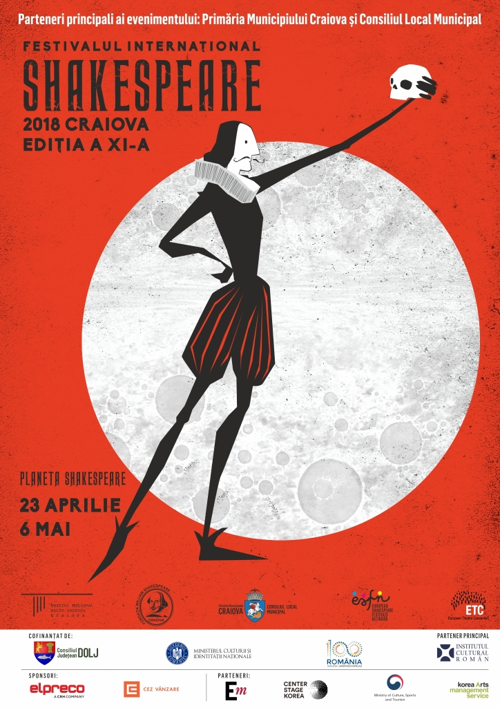 Luni, 23 aprilie, începe cea de-a XI-a ediție a Festivalului Internațional Shakespeare, Craiova