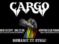 Concertul trupei CARGO – Românie, Te Strig!, în Drobeta Turnu Severin pe 28 septembrie 2018