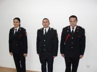 Pompieri avansați în grad cu prilejul Zilei Nationale a României